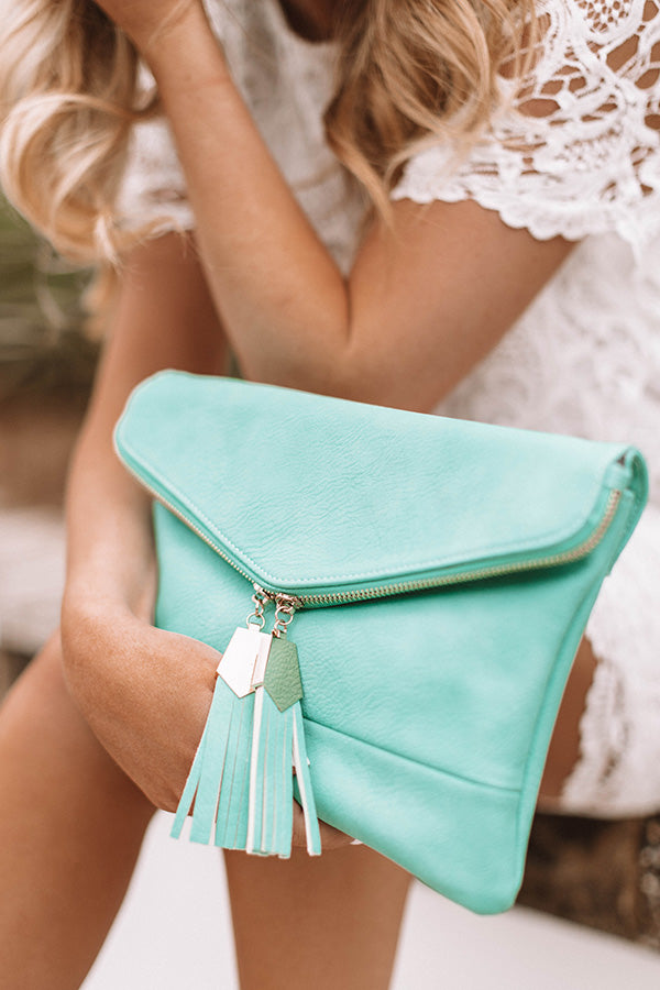 The Chic Life Clutch In Ocean Wave