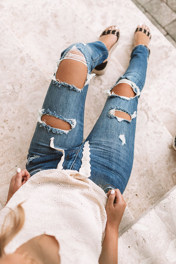 The Palmer High Waist Distressed Skinny