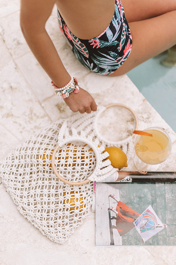 Better In Bali Netted Bucket Bag in Ivory