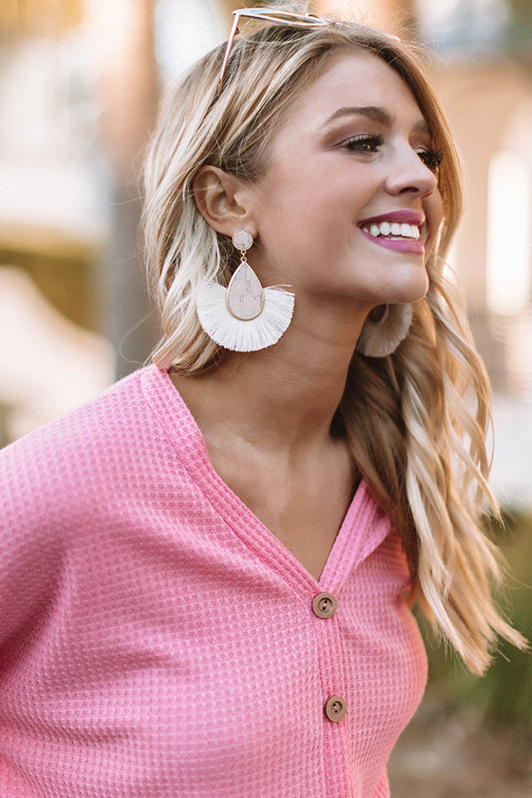 Sunshine State of Mind Earrings In Ivory