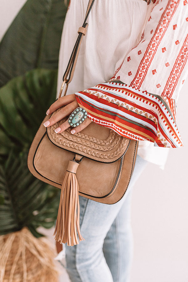 Meet Me In Napa Crossbody In Iced Latte