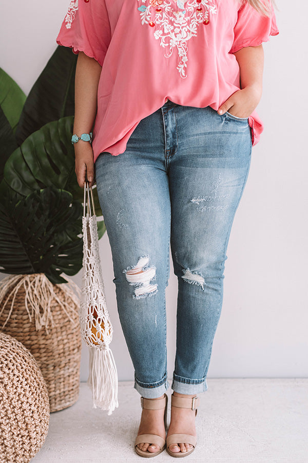 The Bella Midrise Distressed Skinny