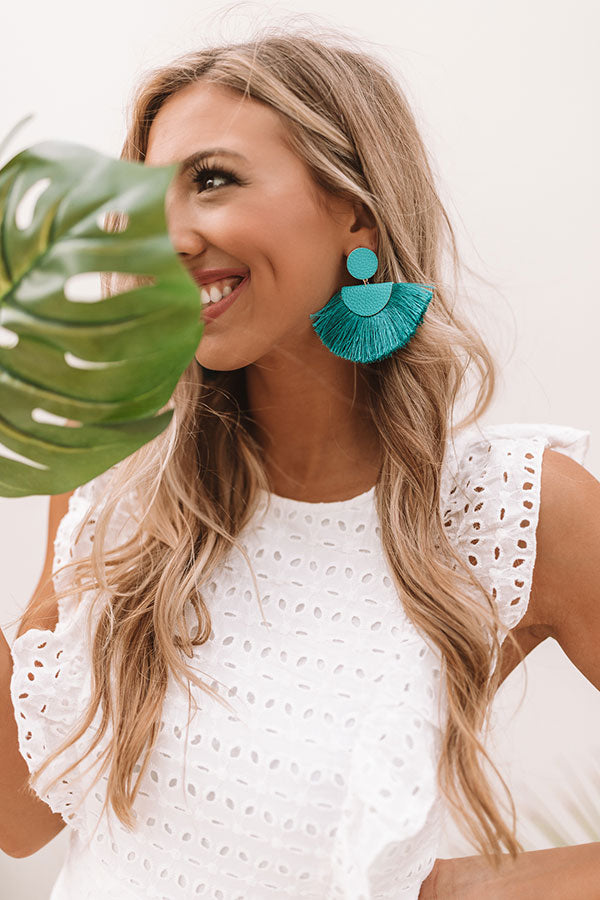 Cali Cruising Earrings In Teal