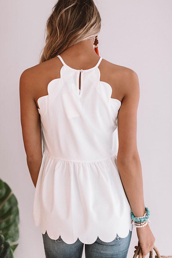All Dolled Up Babydoll Tank in White