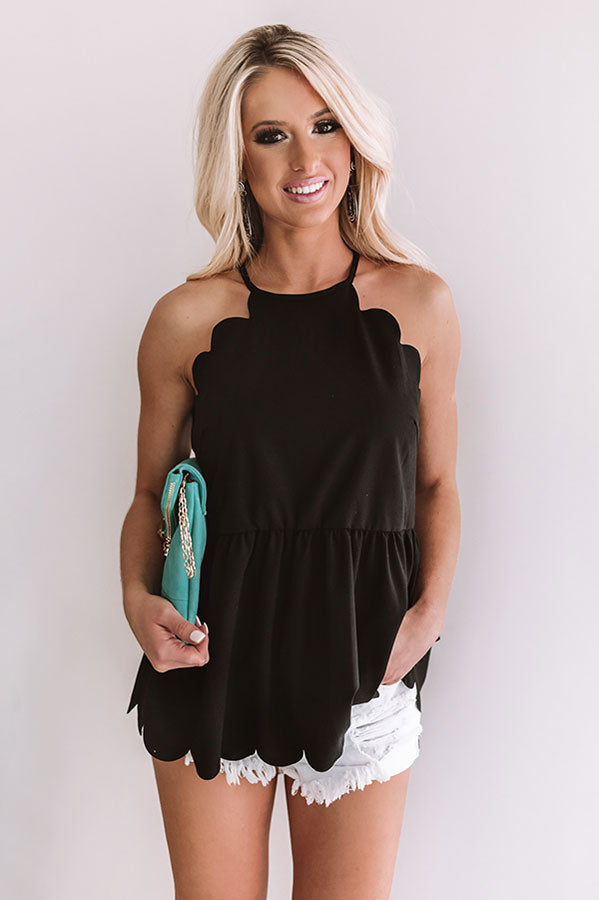 All Dolled Up Babydoll Tank in Black