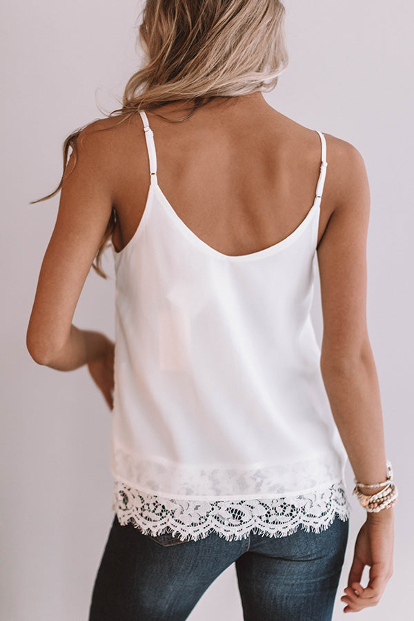 Classic Beauty Shift Tank in White