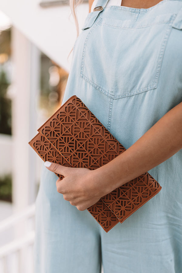 Santorini Romance Clutch In Copper