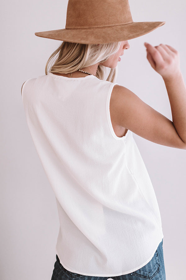 Day To Night Shift Tank in Ivory