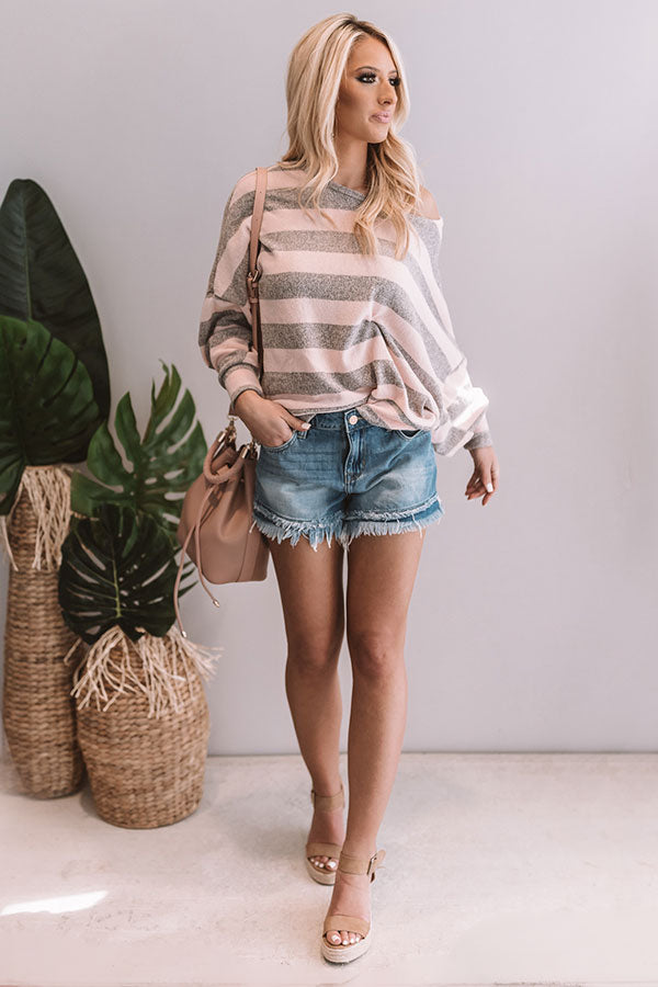 Made Ya Blush Open Back Sweater