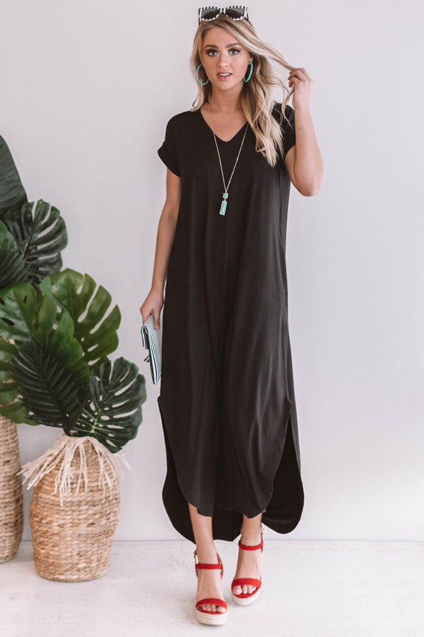 Just My Type T-Shirt Maxi in Black