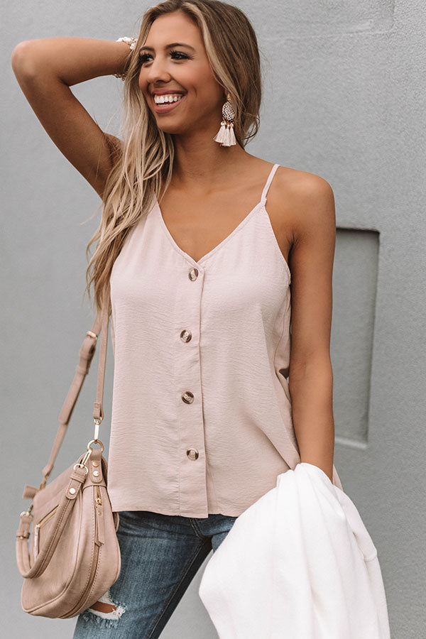 The Beauty Shift Tank in Iced Latte