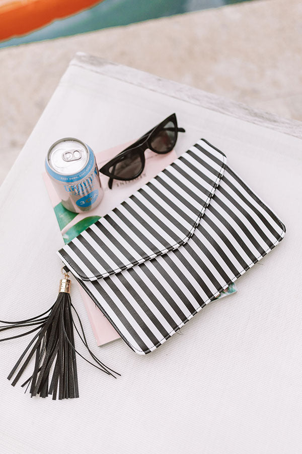 First Class Crushing Stripe Clutch