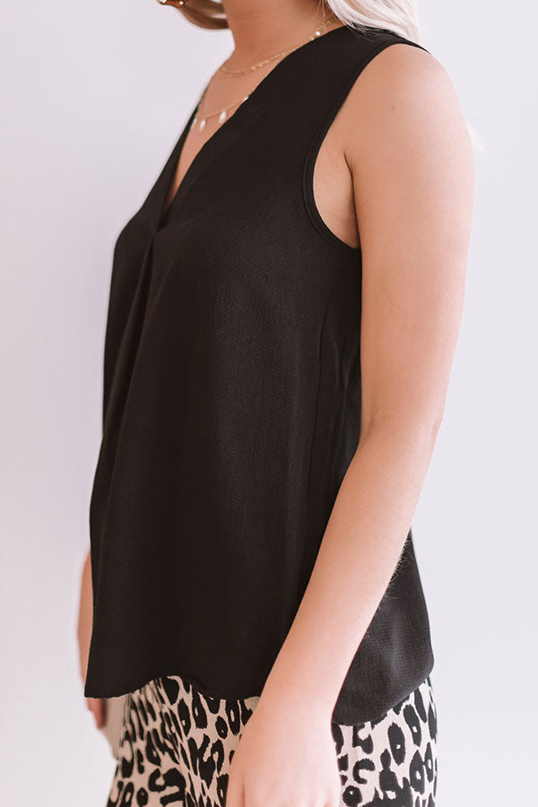 Day To Night Shift Tank in Black