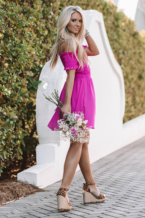 Spring In Your Step Off Shoulder Dress