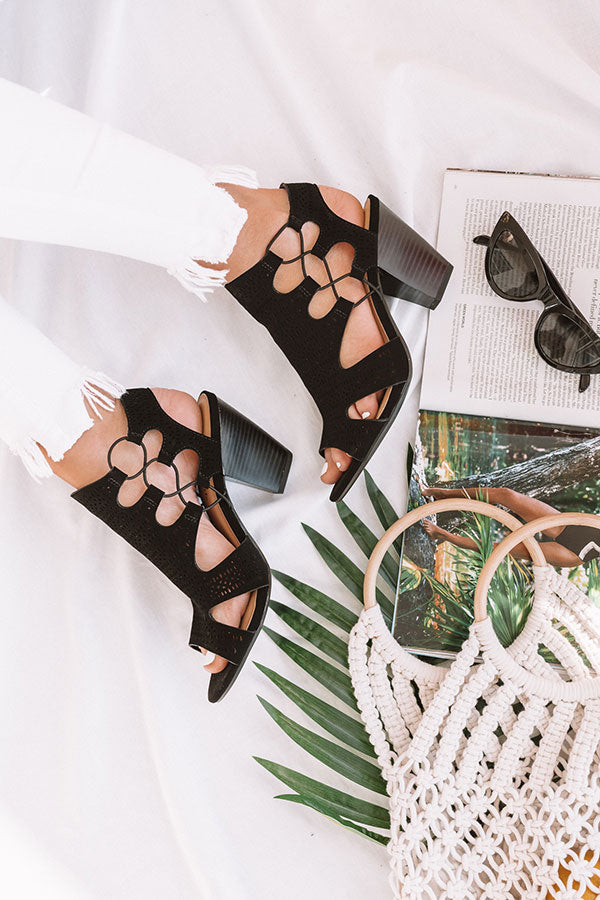 The Adeline Cut Out Heel In Black