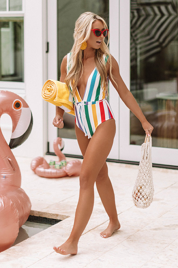 Cabo Stripe One Piece Swimsuit