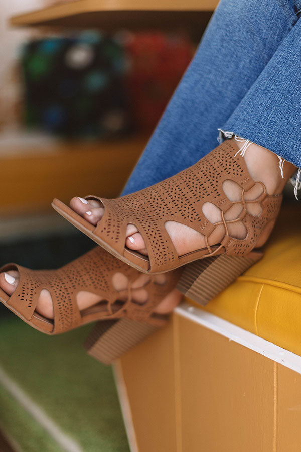 The Adeline Cut Out Heel In Tan
