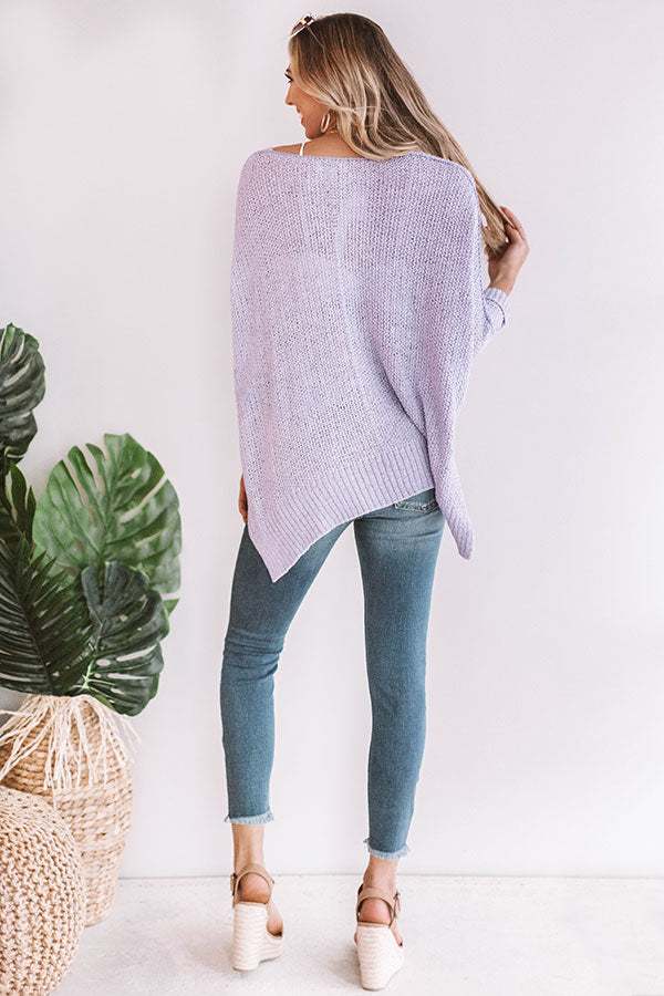 Love Me Like You Mean It Knit Sweater in Lavender