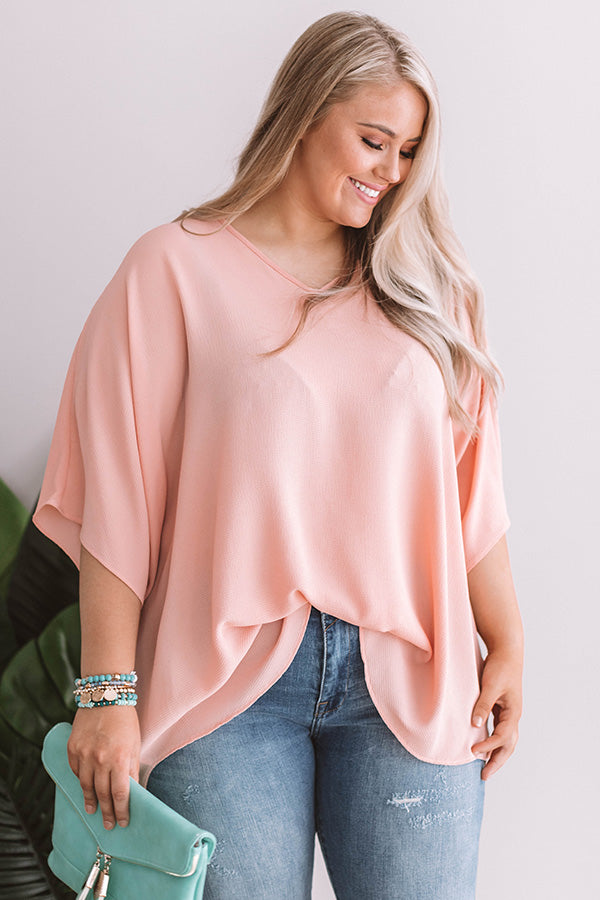 Charleston Love Shift Tunic in Peach