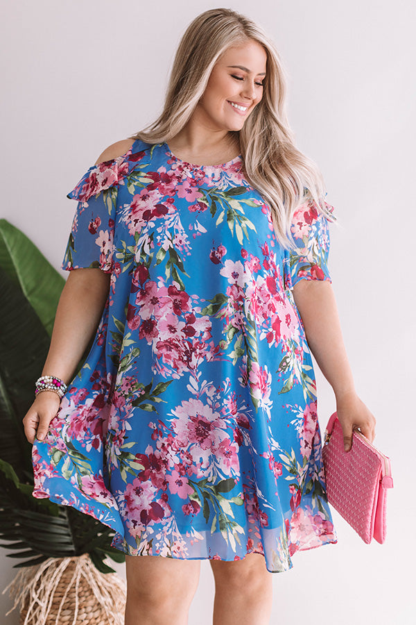 Santorini Romance Floral Shift Dress