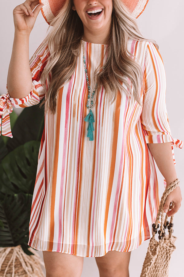 Tango Til Sunrise Stripe Shift Dress