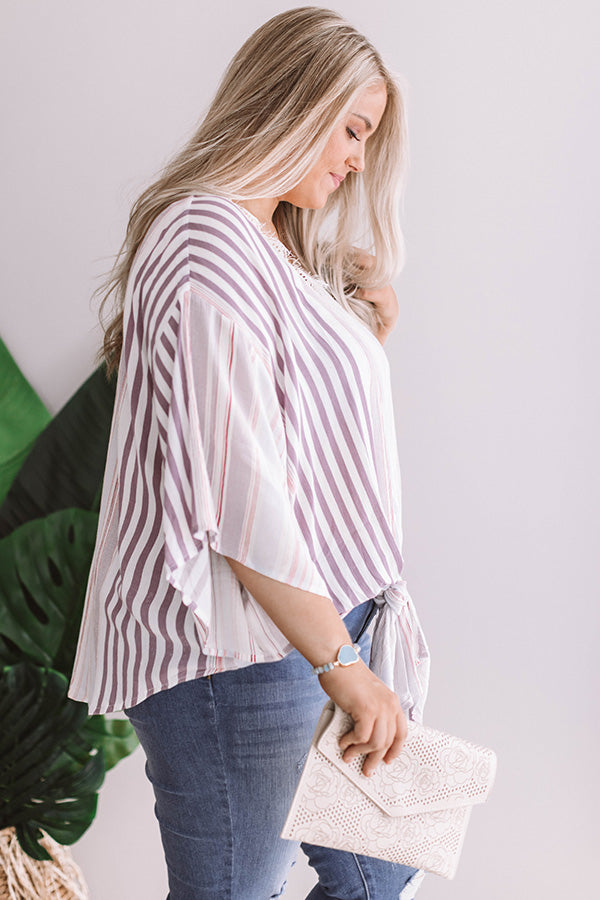 Hamptons Hideaway Tie Top In Orchid