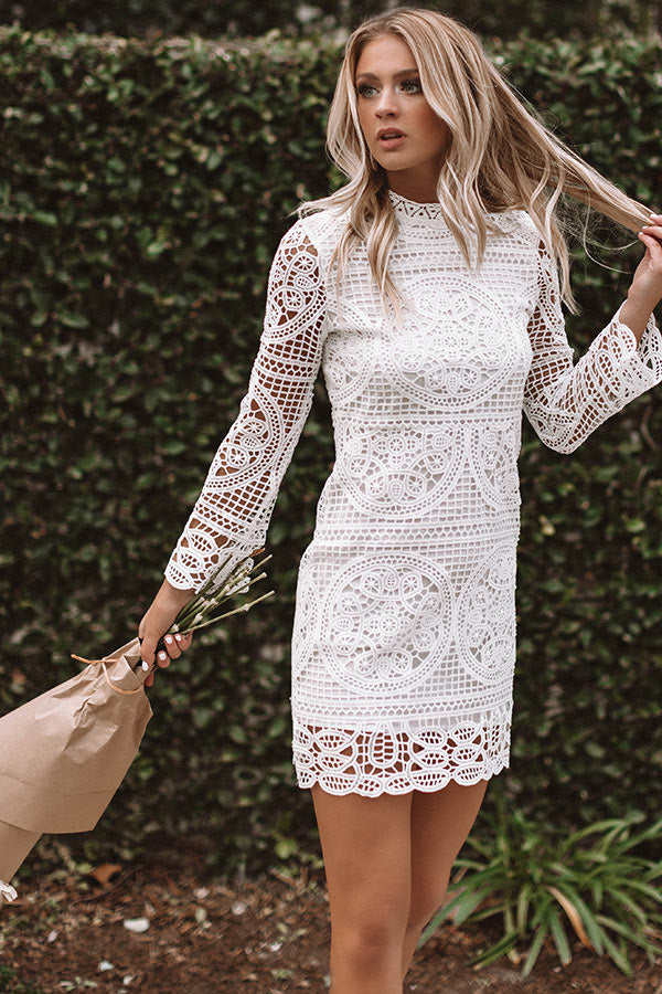 Blame It On My Heart Crochet Dress