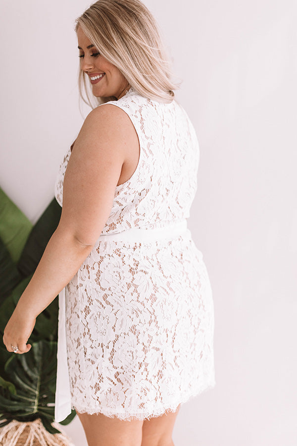 a218303d4 Front Row Exclusive Lace Wrap Dress in White • Impressions Online ...