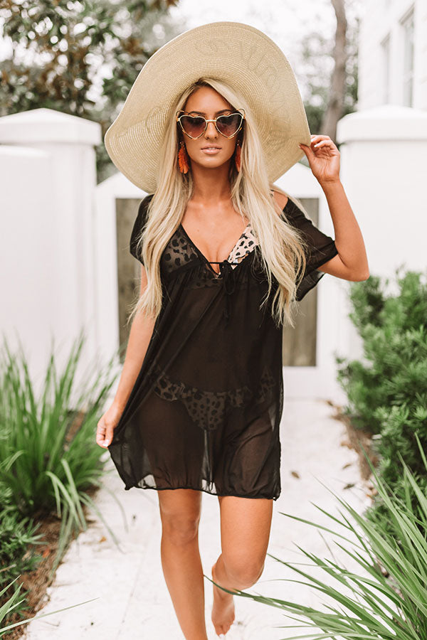 Poolside Preferred Mesh Cover Up in Black