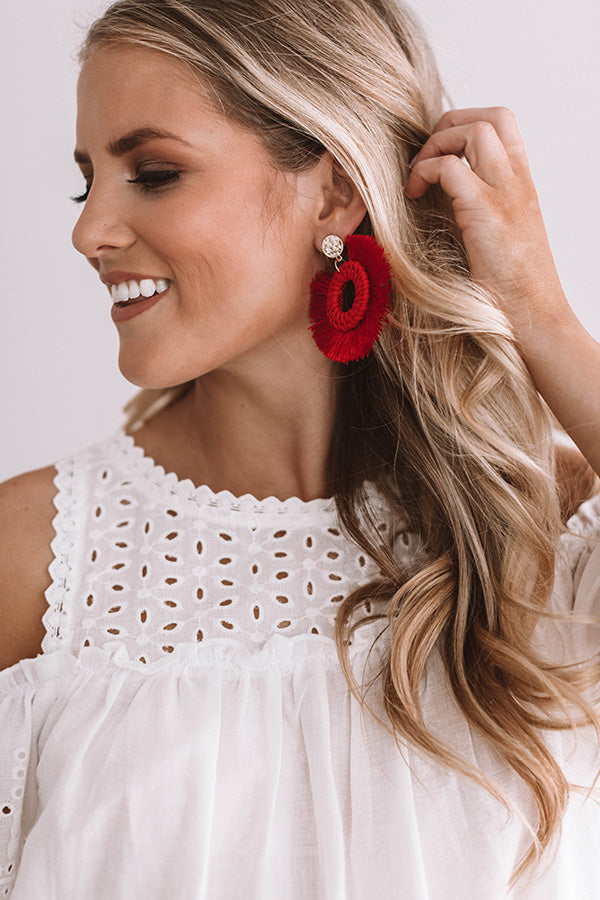 First Date Flutters Earrings In Red