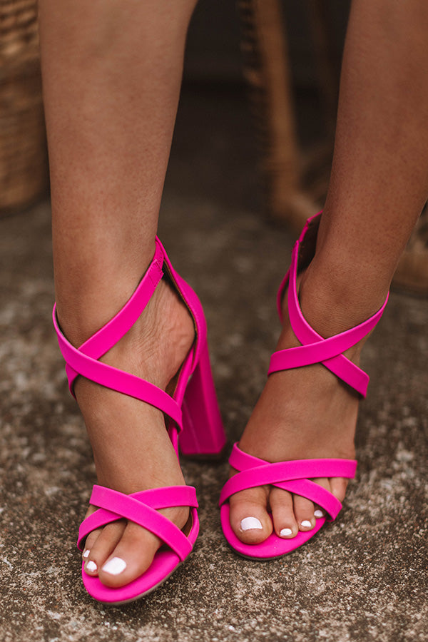 The Gabriella Heel in Hot Pink • Impressions Online Boutique