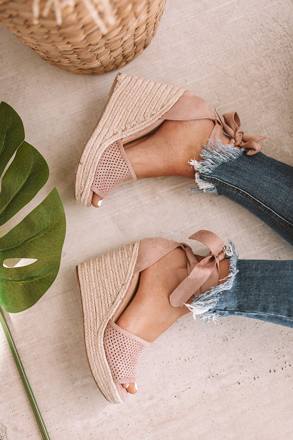 The Ophelia Wedge In Blush