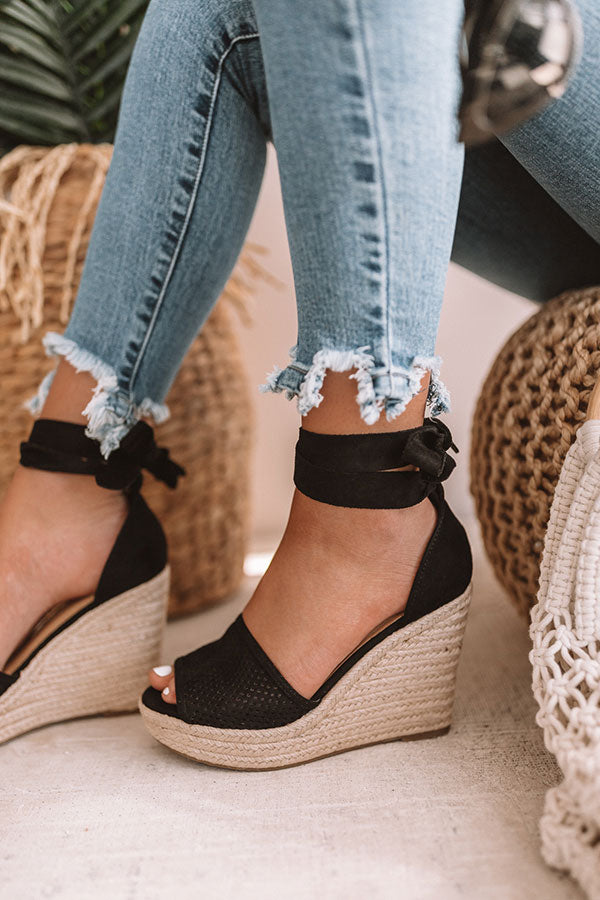 The Ophelia Wedge In Black