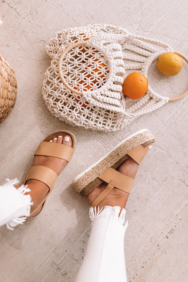 The Bianca Espadrille In Tan