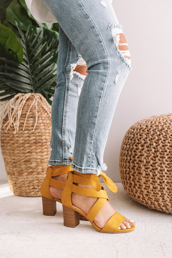 The Theo Heel In Primrose Yellow