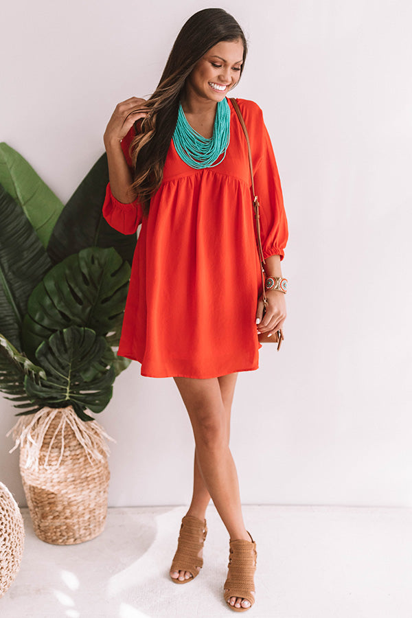 f9edad759b65 St. Lucia Luxe Babydoll Dress in Red • Impressions Online Boutique