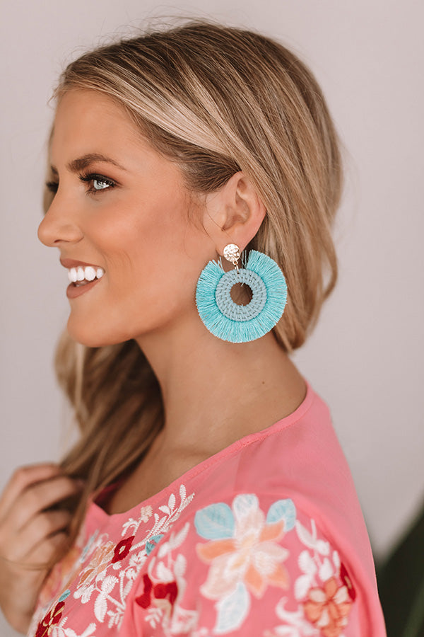 First Date Flutters Earrings In Aqua
