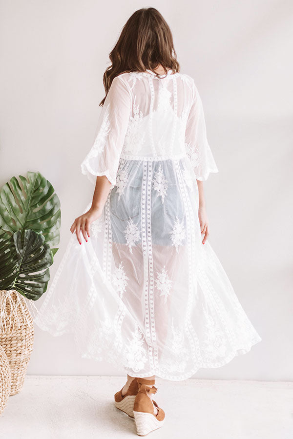 Beachy Escape Lace Duster