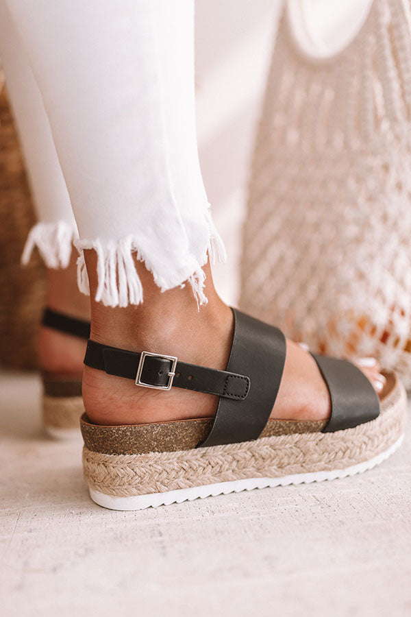 The Bianca Espadrille In Black