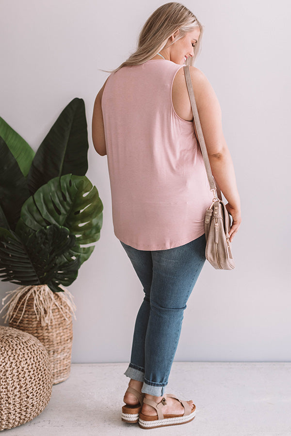 Off The Coast Shift Tank in Blush