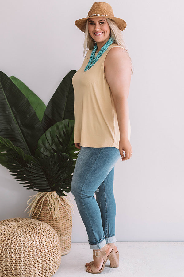 Off The Coast Shift Tank in Primrose Yellow