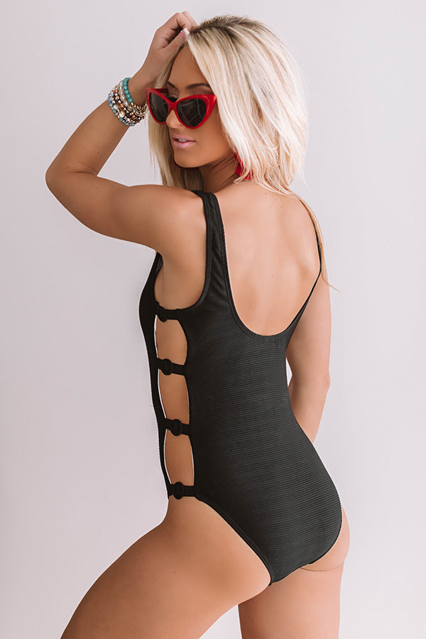 Surf And Kisses Ribbed One Piece Swimsuit