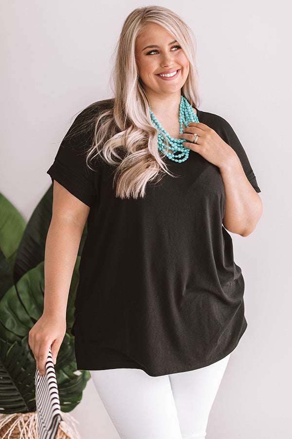 Malibu Bombshell Shift Tee In Black