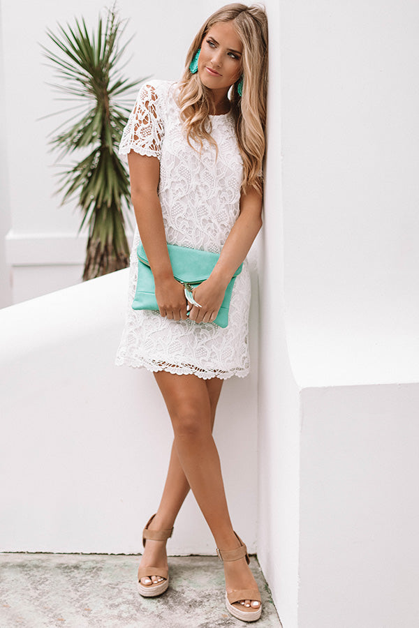 You Know You Love Me Crochet Dress In White
