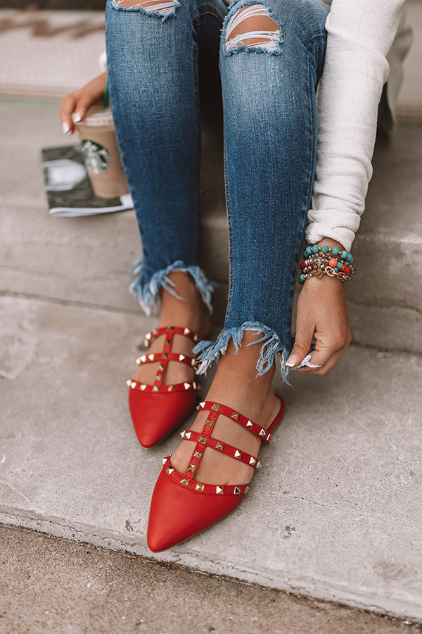 The Candace Flat In Red