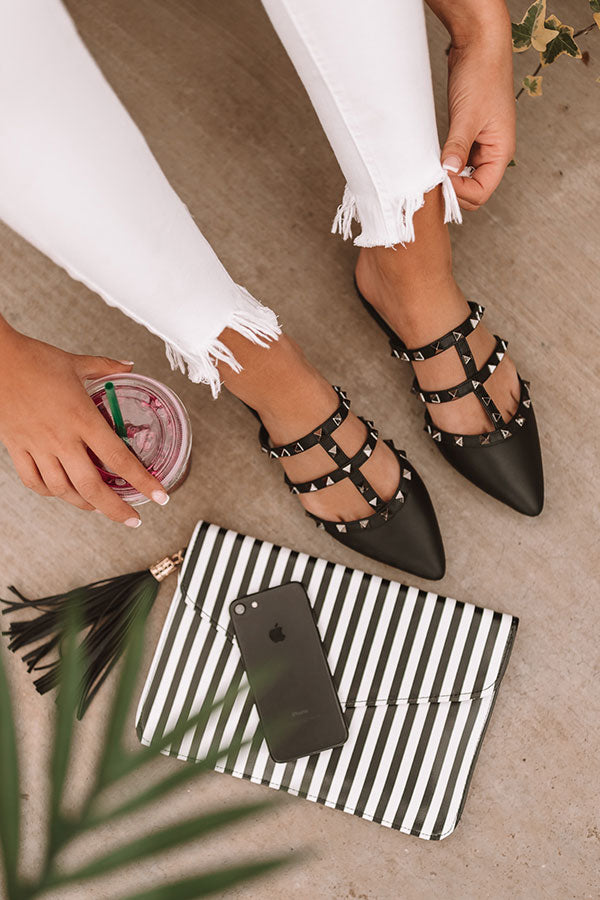 The Candace Flat In Black
