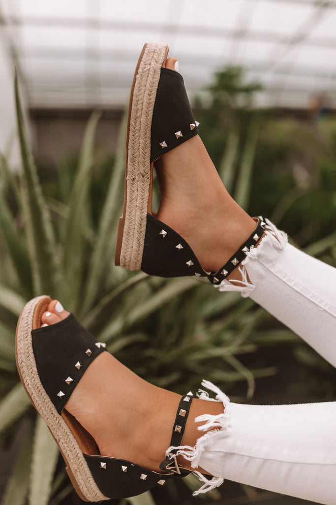 The Hartley Espadrille In Black