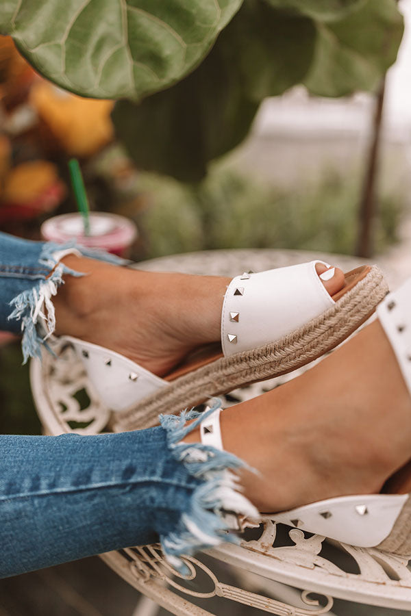 The Hartley Espadrille In White