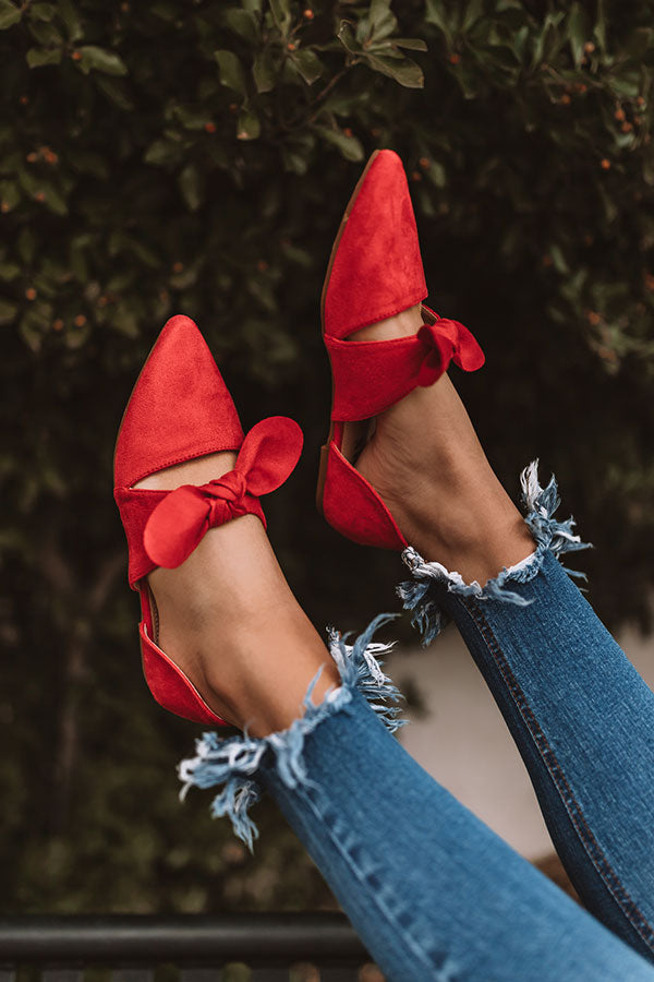 The Grayson Flat In Red
