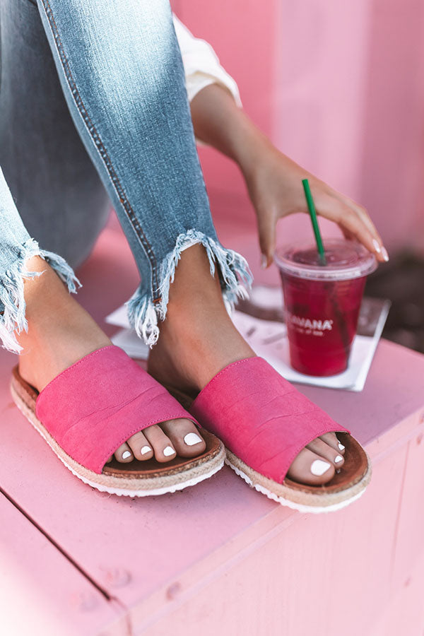 The Sadie Sandal In Fuchsia